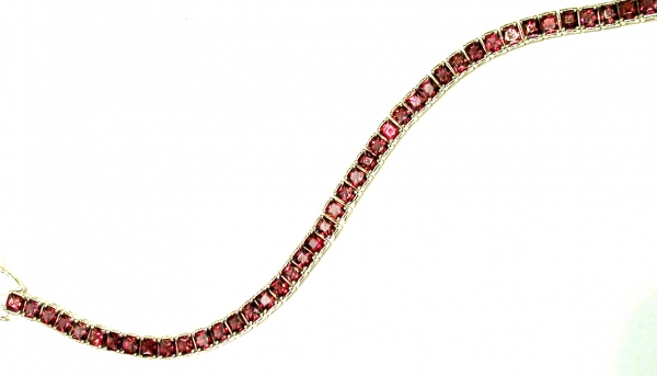 Rhodolite bracelet - Rhodolite garnets set in SS bracelet. January birthstone. Please call for current price.