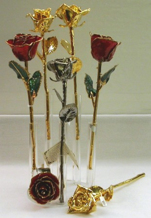 24k - Variety of Genuine roses dipped in 24k yg